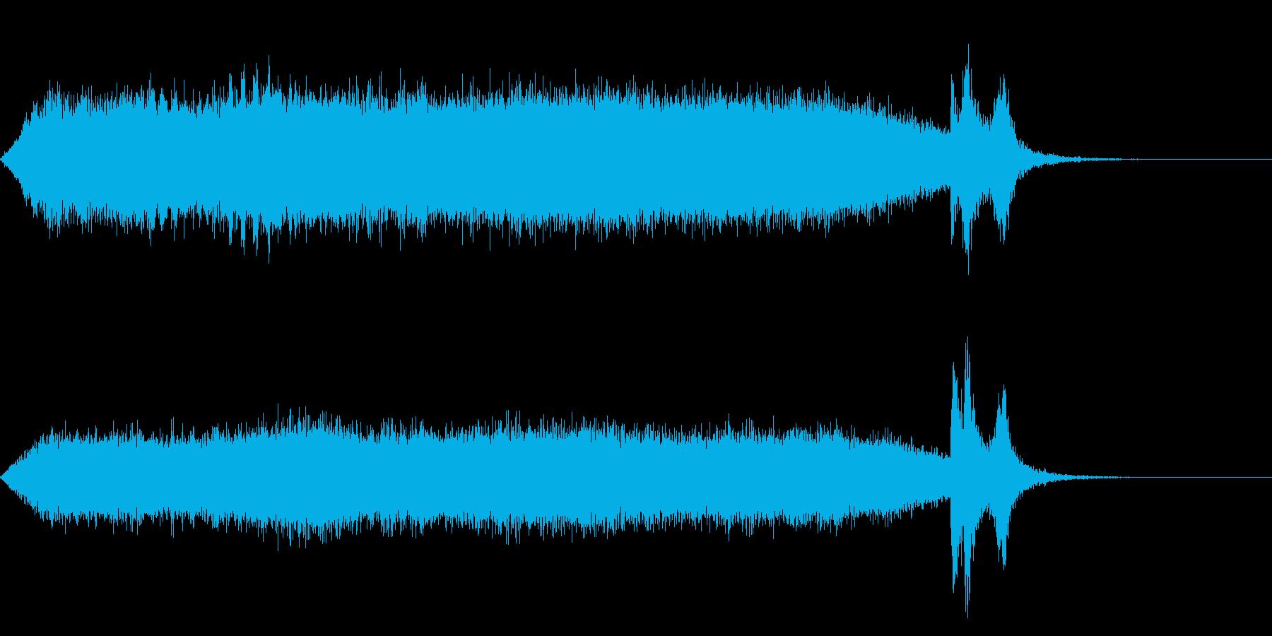 ワープ 宇宙的 未来的な効果音 02bの再生済みの波形