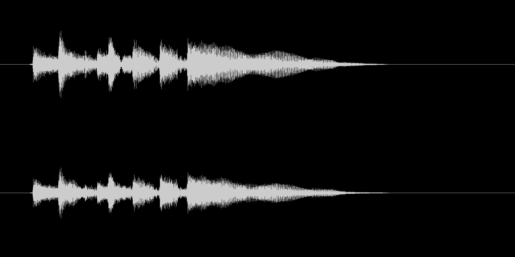 ギターを爪弾く効果音の未再生の波形