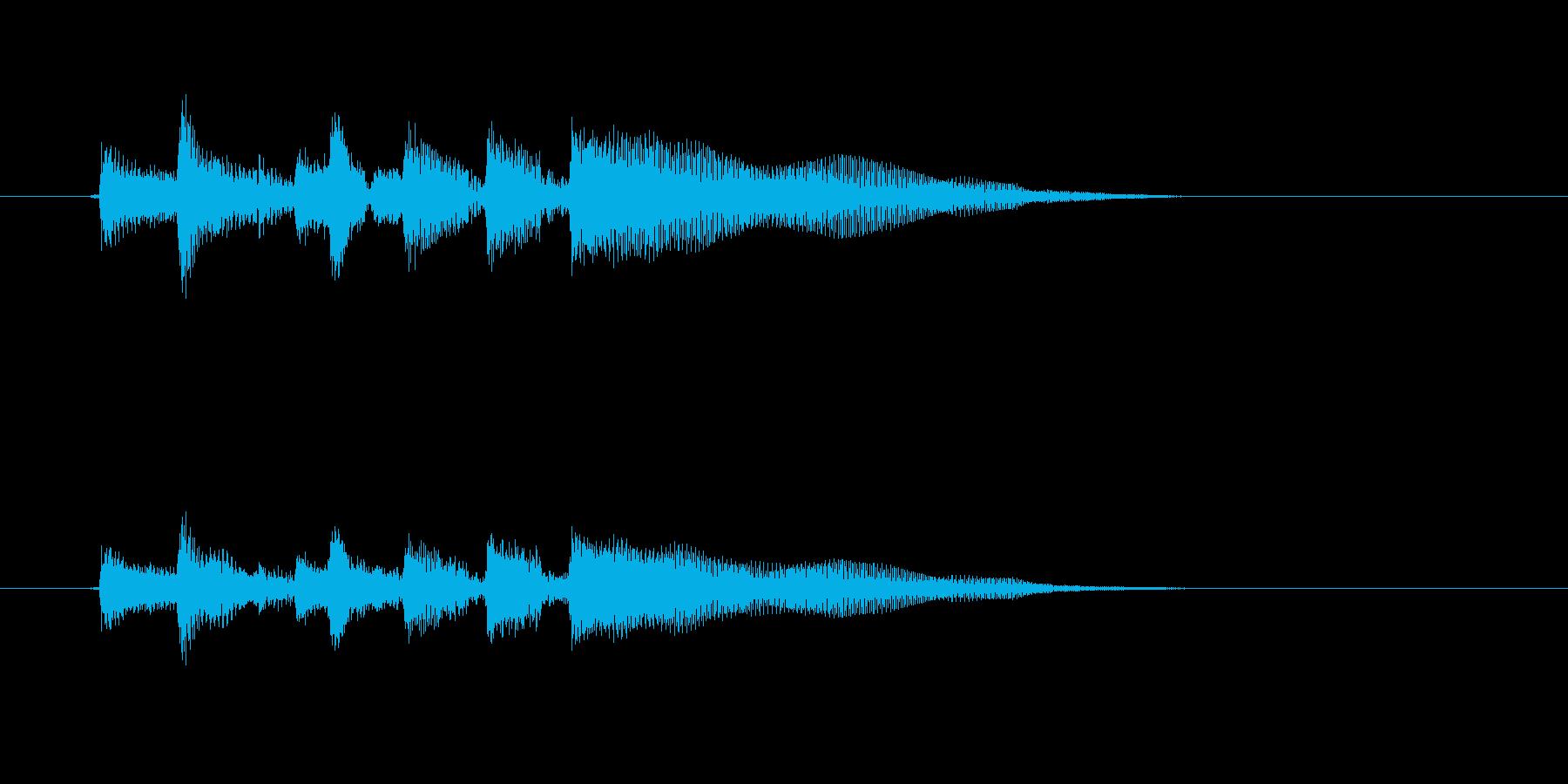ギターを爪弾く効果音の再生済みの波形