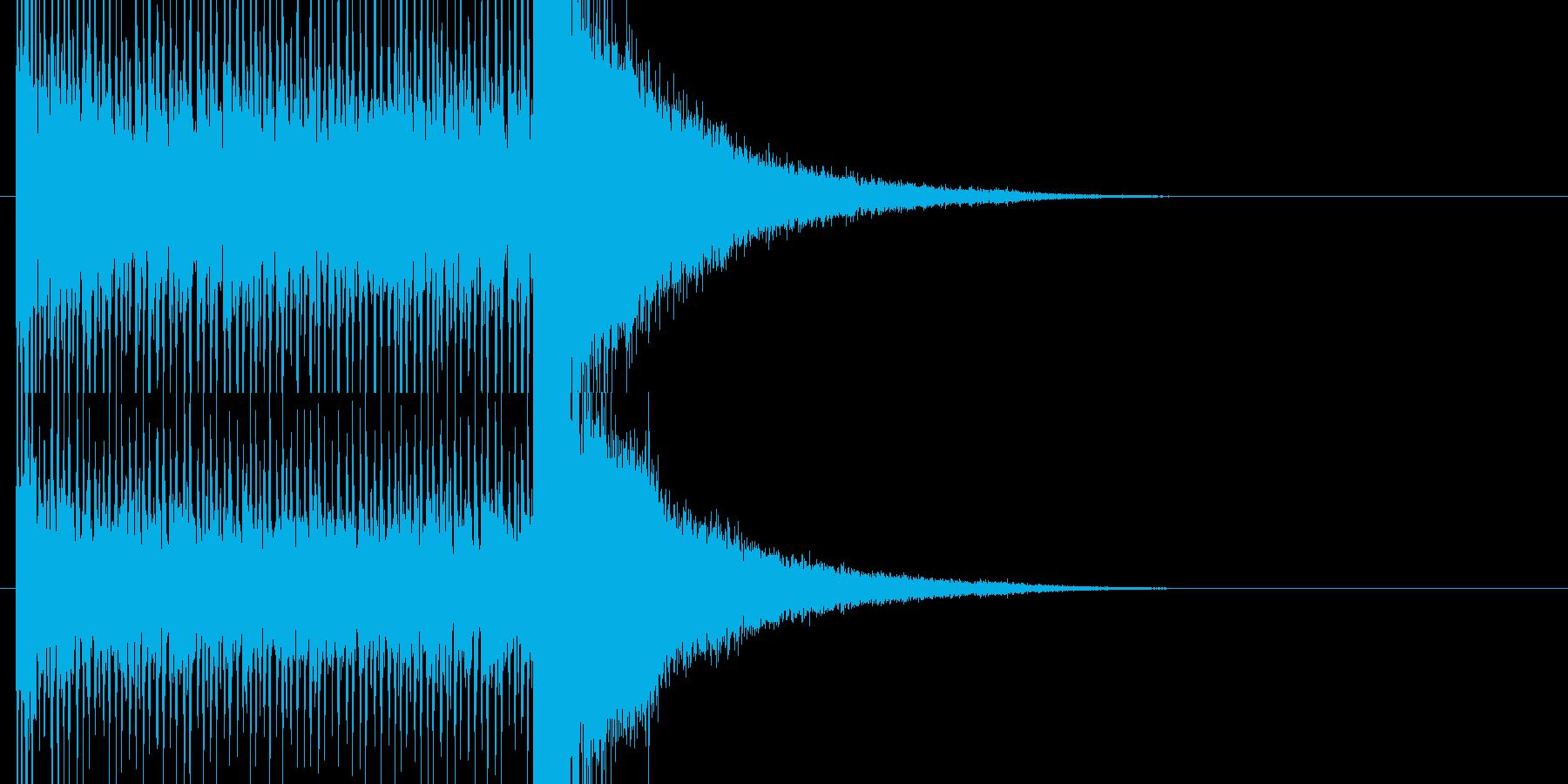 結果発表を期待させるドラムロールの再生済みの波形