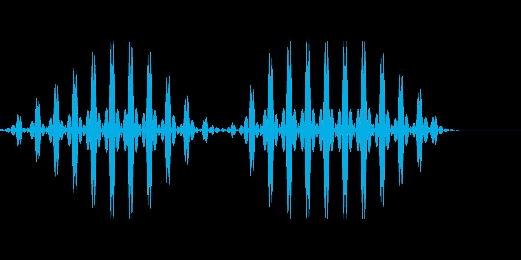 ブブ2【選択不可、使用不可、エラー】の再生済みの波形