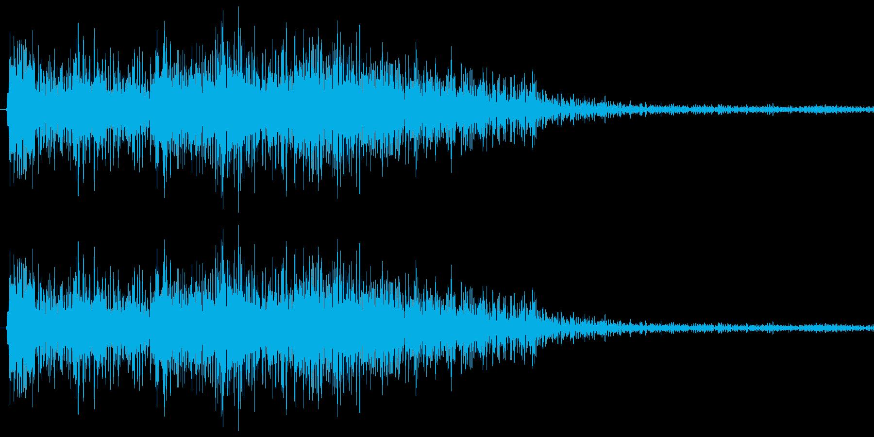 クイズの出題されるときの音の再生済みの波形