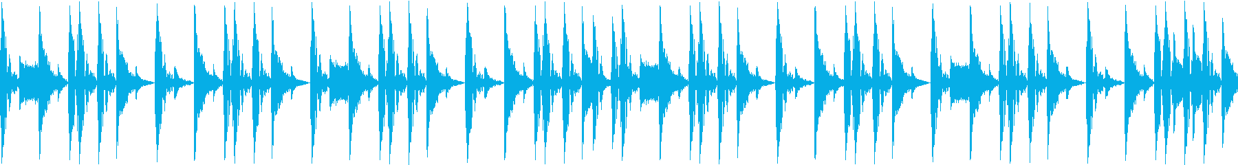ノリの良いブレークビーツ_001の再生済みの波形