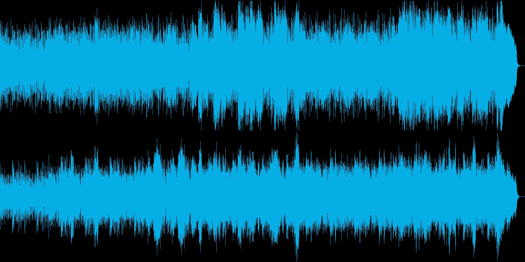 優しさに包まれる感動ピアノ2合唱と弦抜きの再生済みの波形