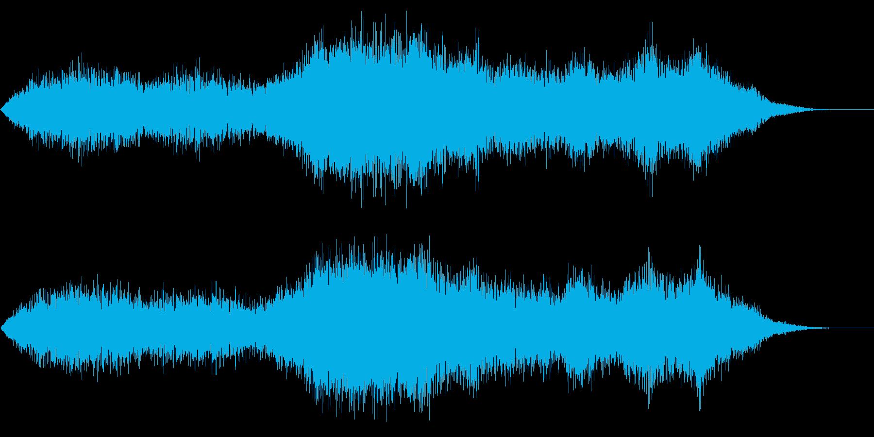強風 突風 台風 嵐 ビュービューの再生済みの波形