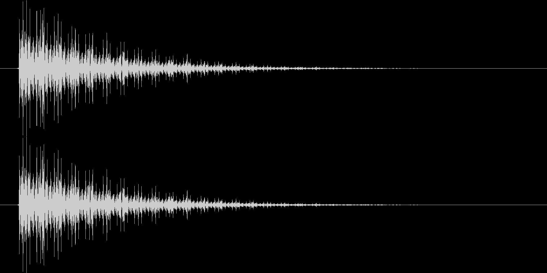 ドゥ~ンの未再生の波形