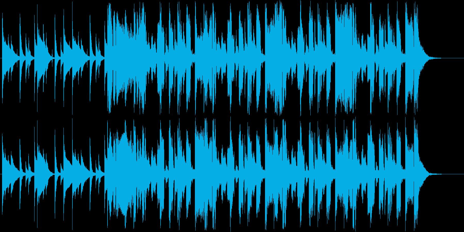 宇宙の感じがあるシンセ短めジングルの再生済みの波形