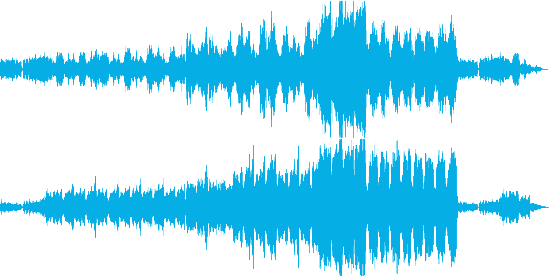 厳かで寂しげなBGMの再生済みの波形