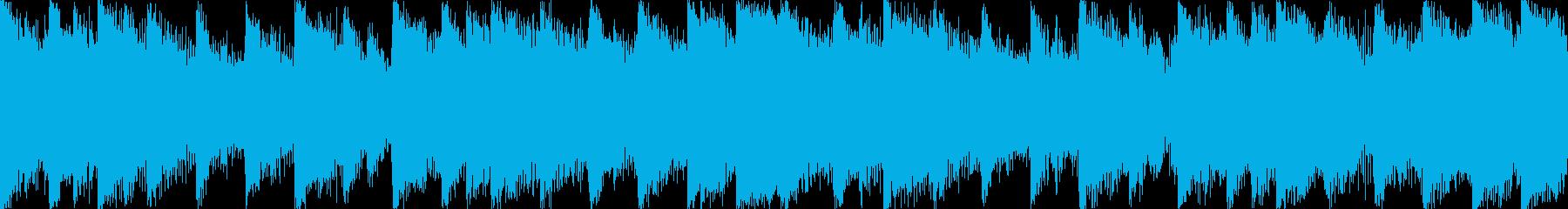【ループB】ヘヴィーで攻撃的エレキギターの再生済みの波形