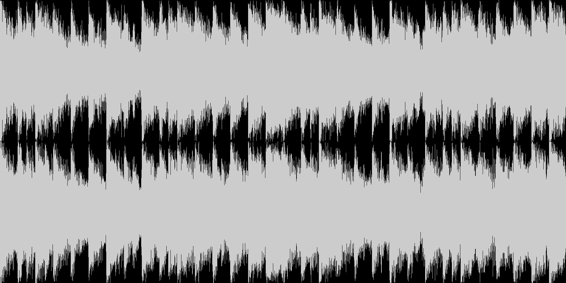 【ループB】ヘヴィーで攻撃的エレキギターの未再生の波形