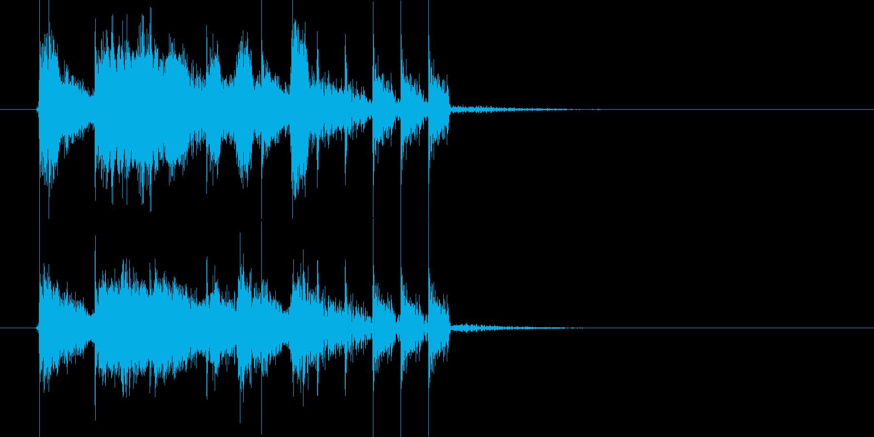 パッパーパパッパッ!電子音楽ジングルの再生済みの波形