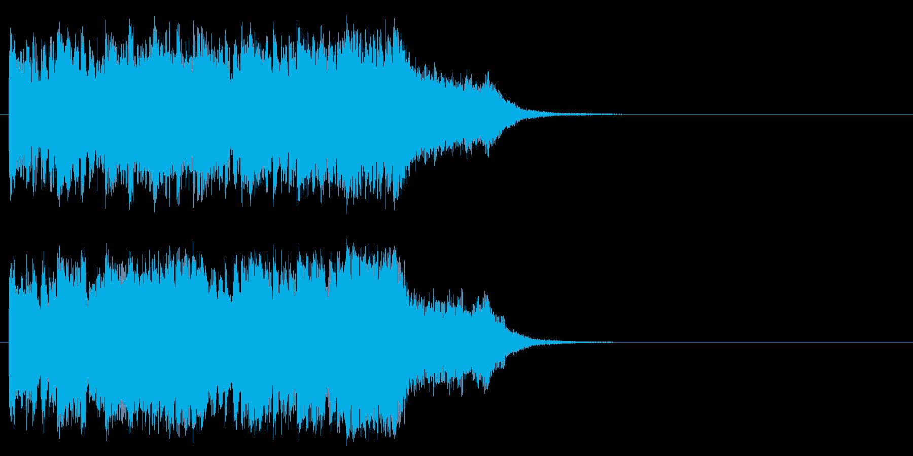 報道コーナー風シリアスなジングルの再生済みの波形