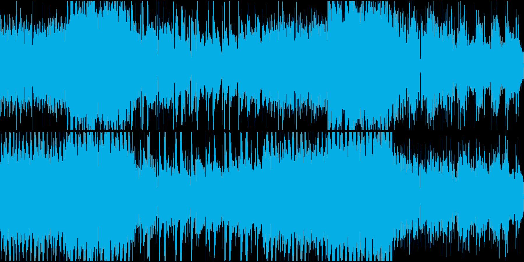 不気味な雰囲気のアンビエントループの再生済みの波形
