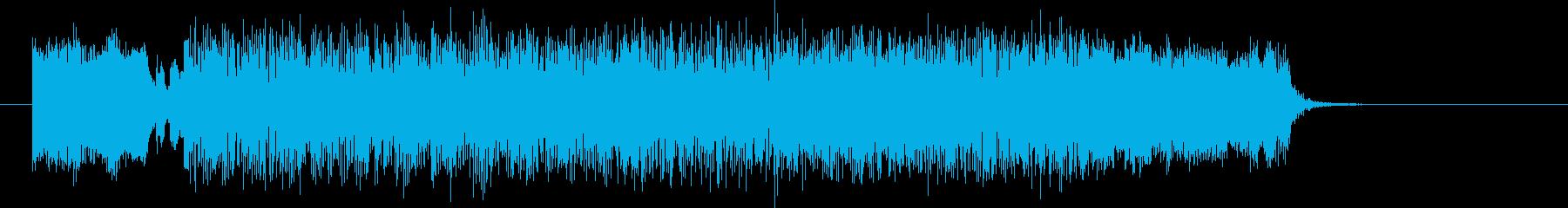激しくかっこいいテクノ音楽の再生済みの波形