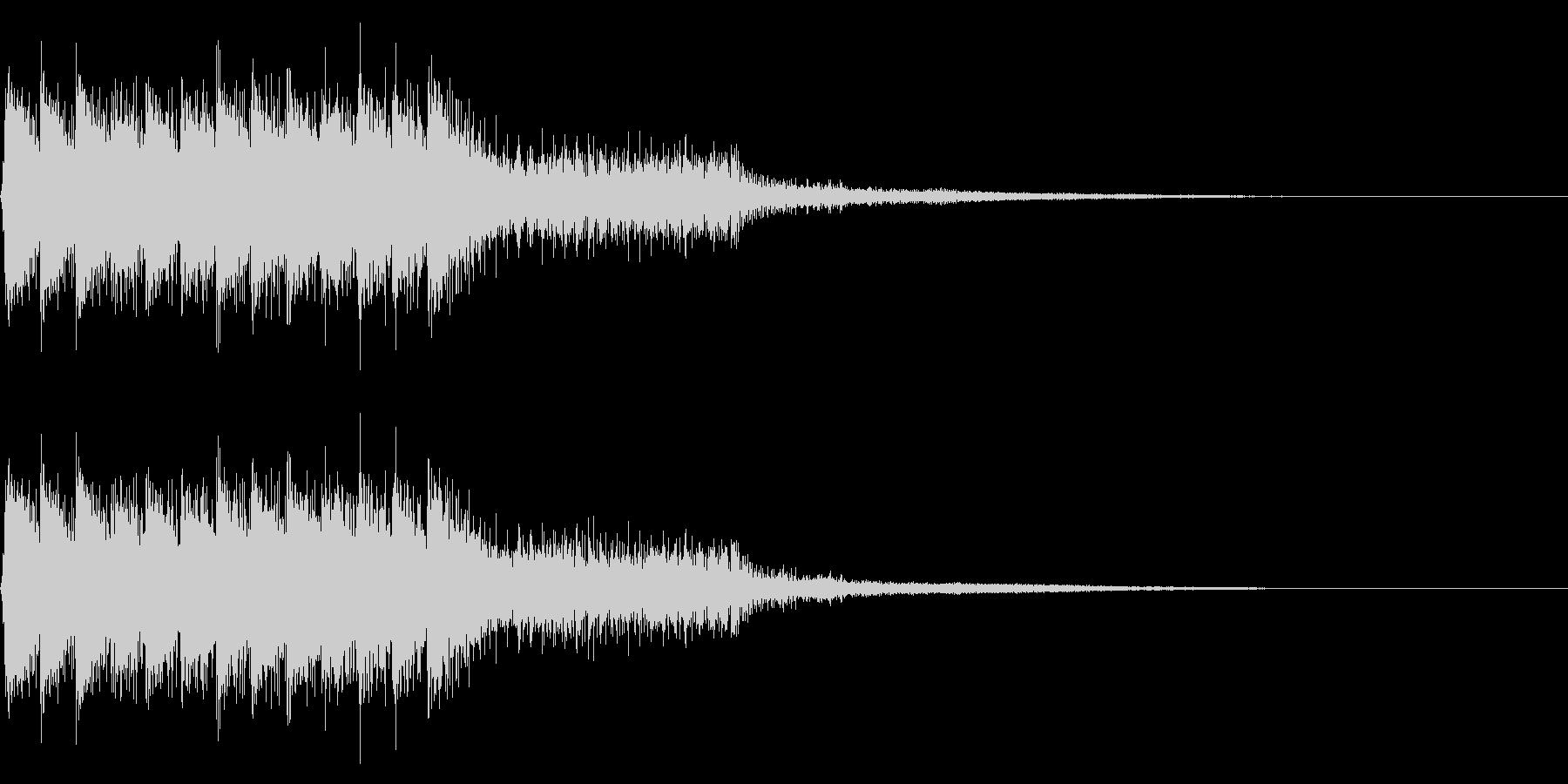 レトロなゲームオーバー音 ミス音 失敗音の未再生の波形