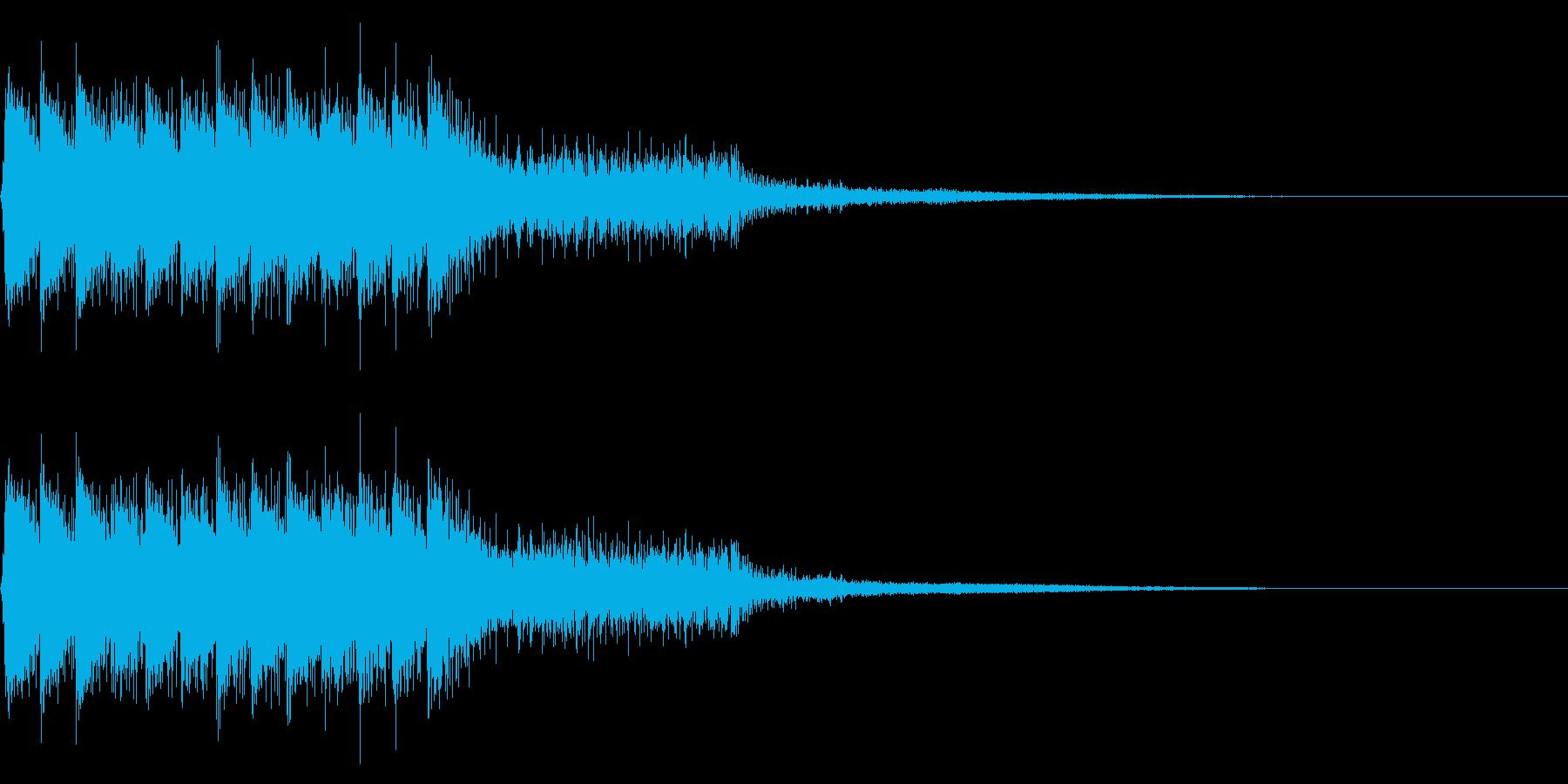 レトロなゲームオーバー音 ミス音 失敗音の再生済みの波形
