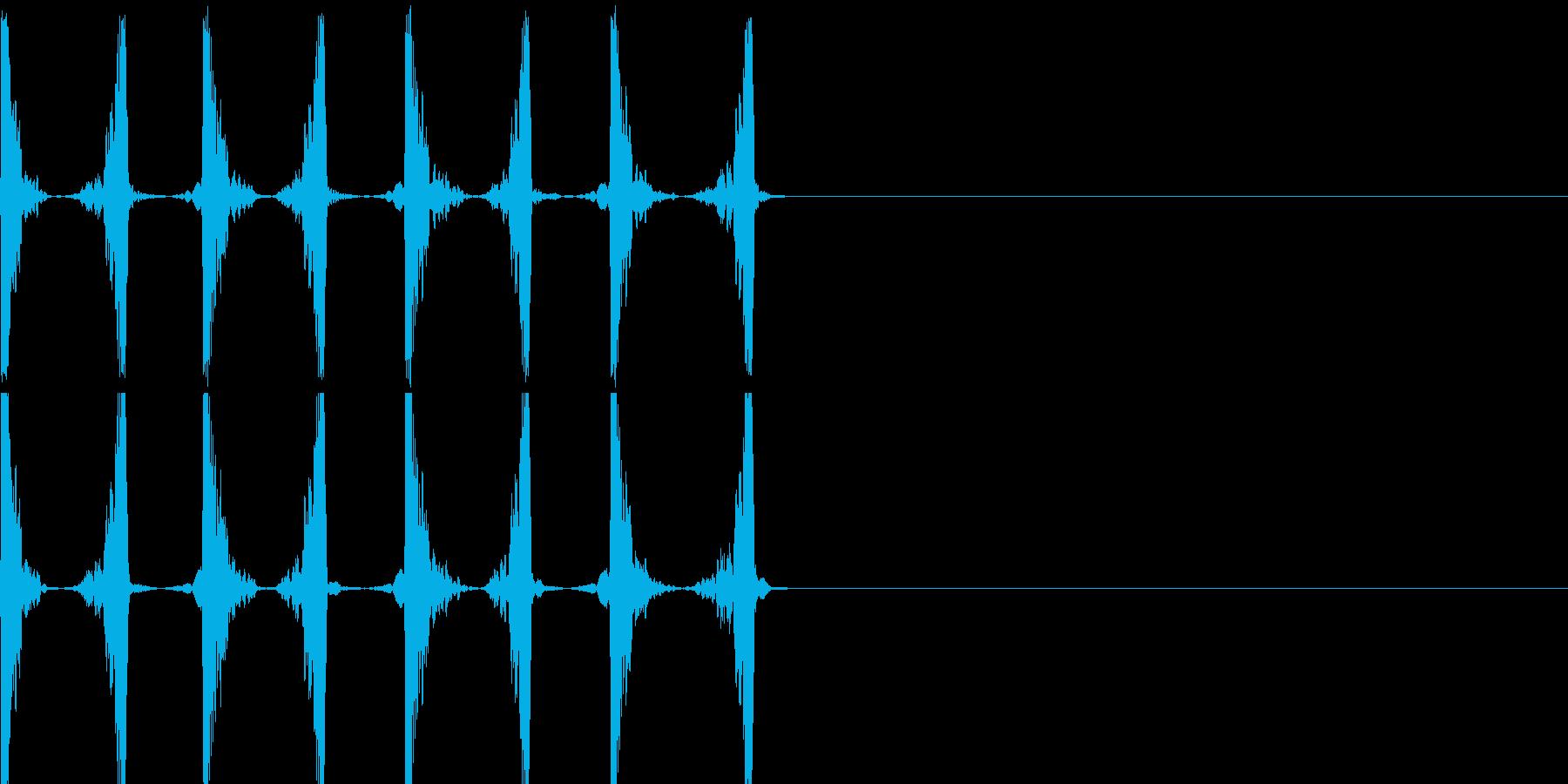 チュクチュクの再生済みの波形