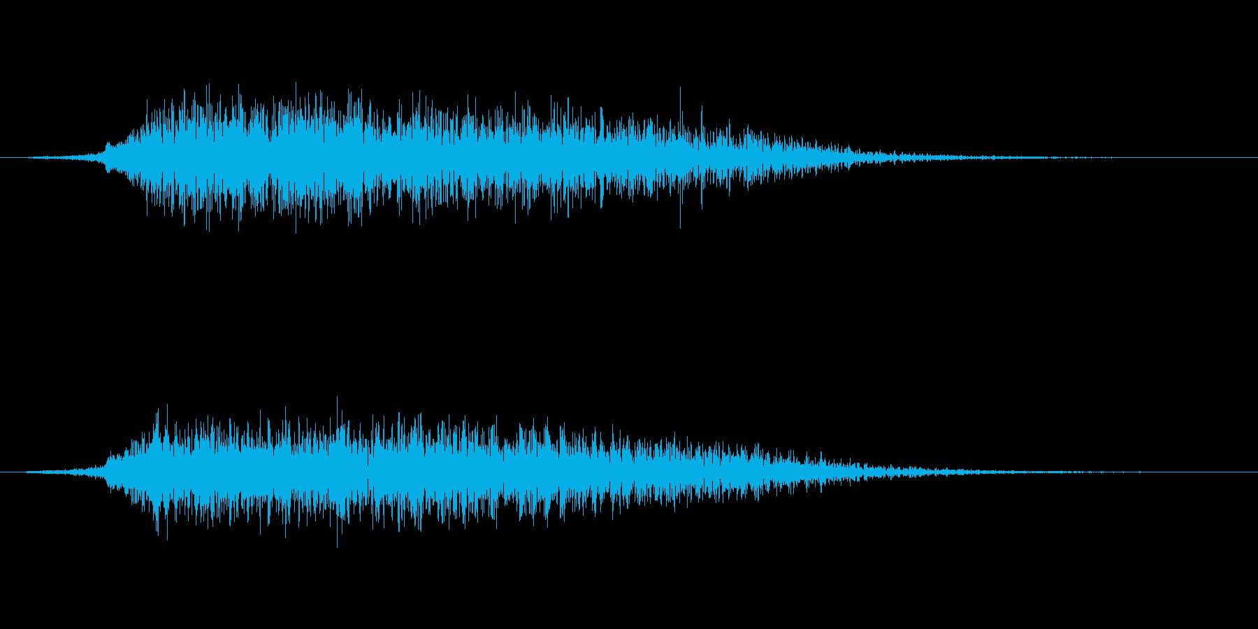 和風掛け声「さー」(男複数st)の再生済みの波形