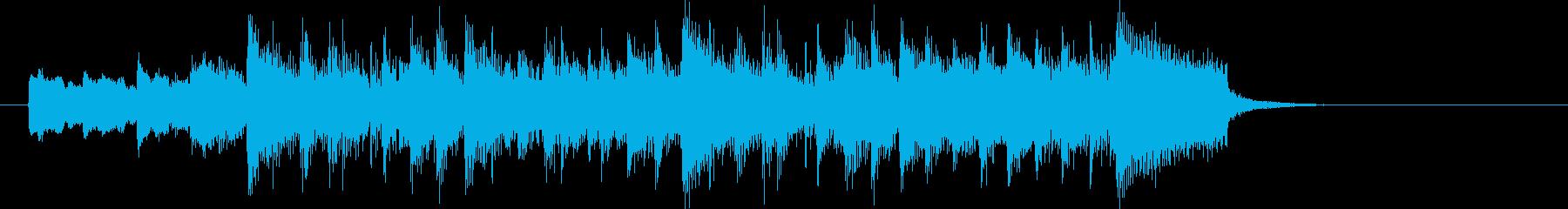 お洒落で鉄琴が印象的なBGMの再生済みの波形