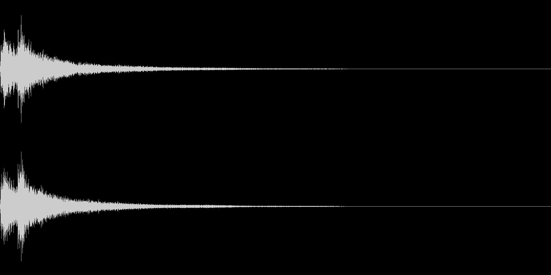 ティンパニーとシンバル☆ドドン!2の未再生の波形