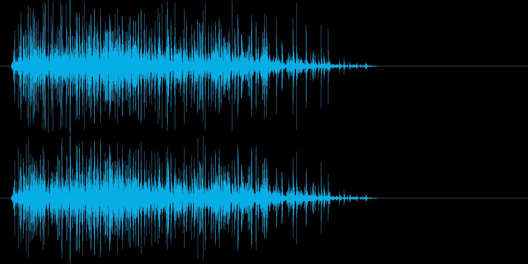 コポコポコポ…(飲み物を注ぐ音、短め)の再生済みの波形
