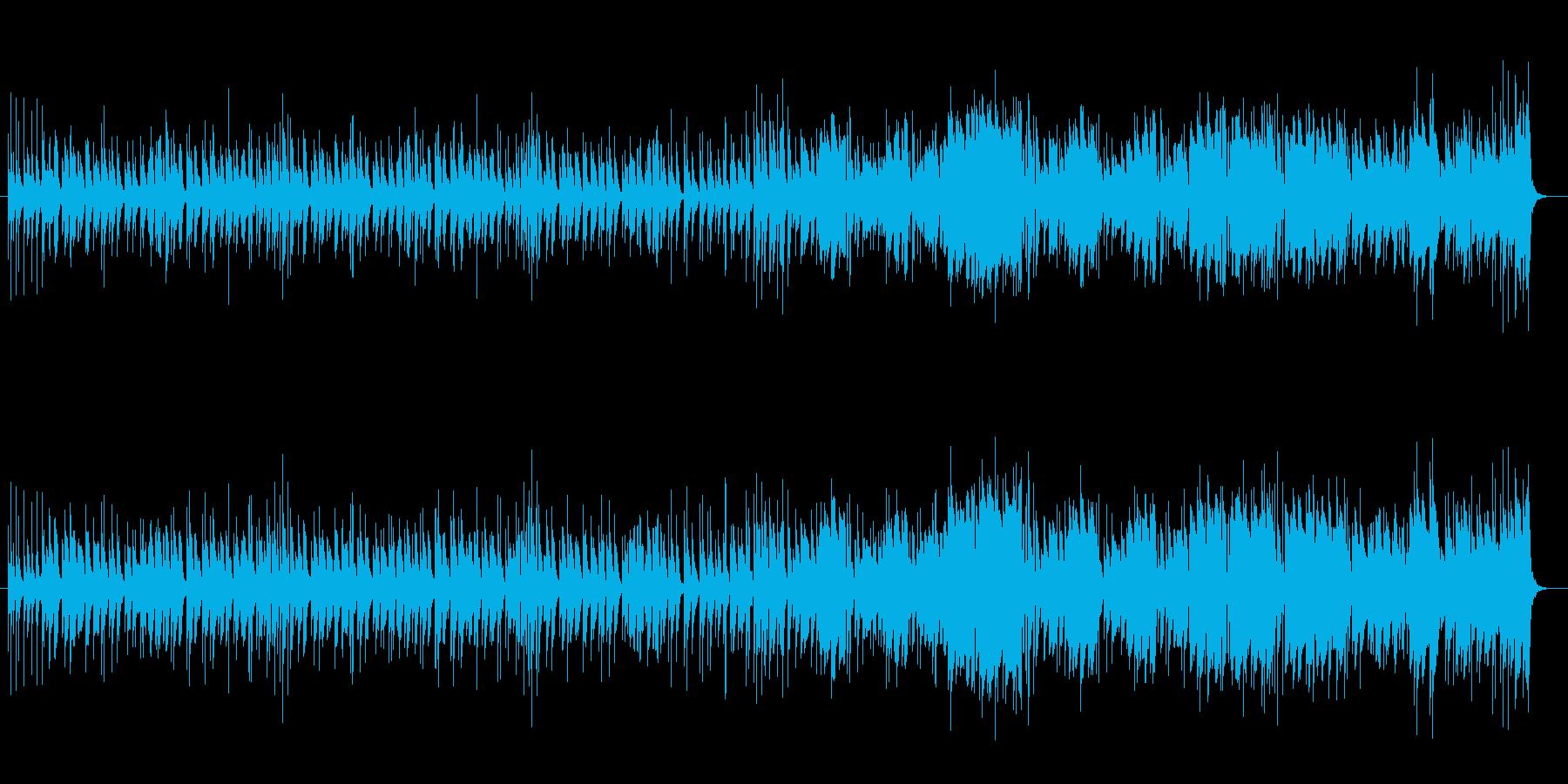 ピアノとマリンバのラテン風のんき曲の再生済みの波形