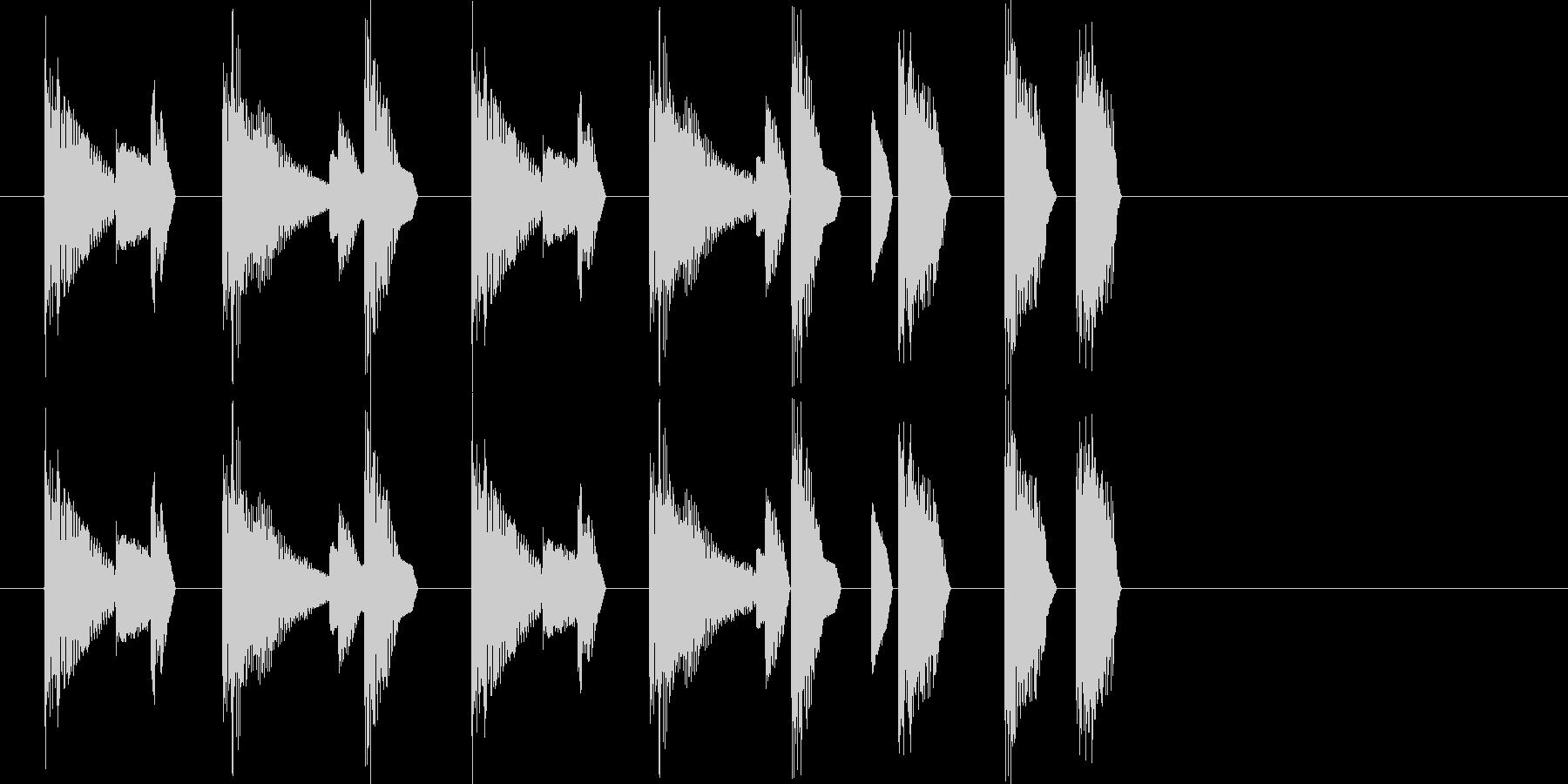 レトロゲーム風・ステージクリア#2の未再生の波形