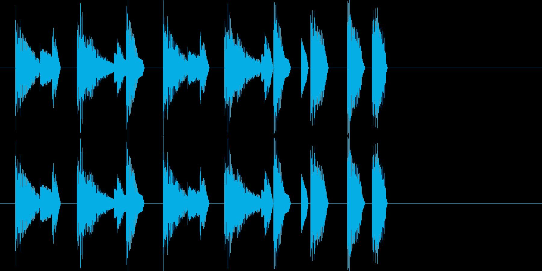 レトロゲーム風・ステージクリア#2の再生済みの波形