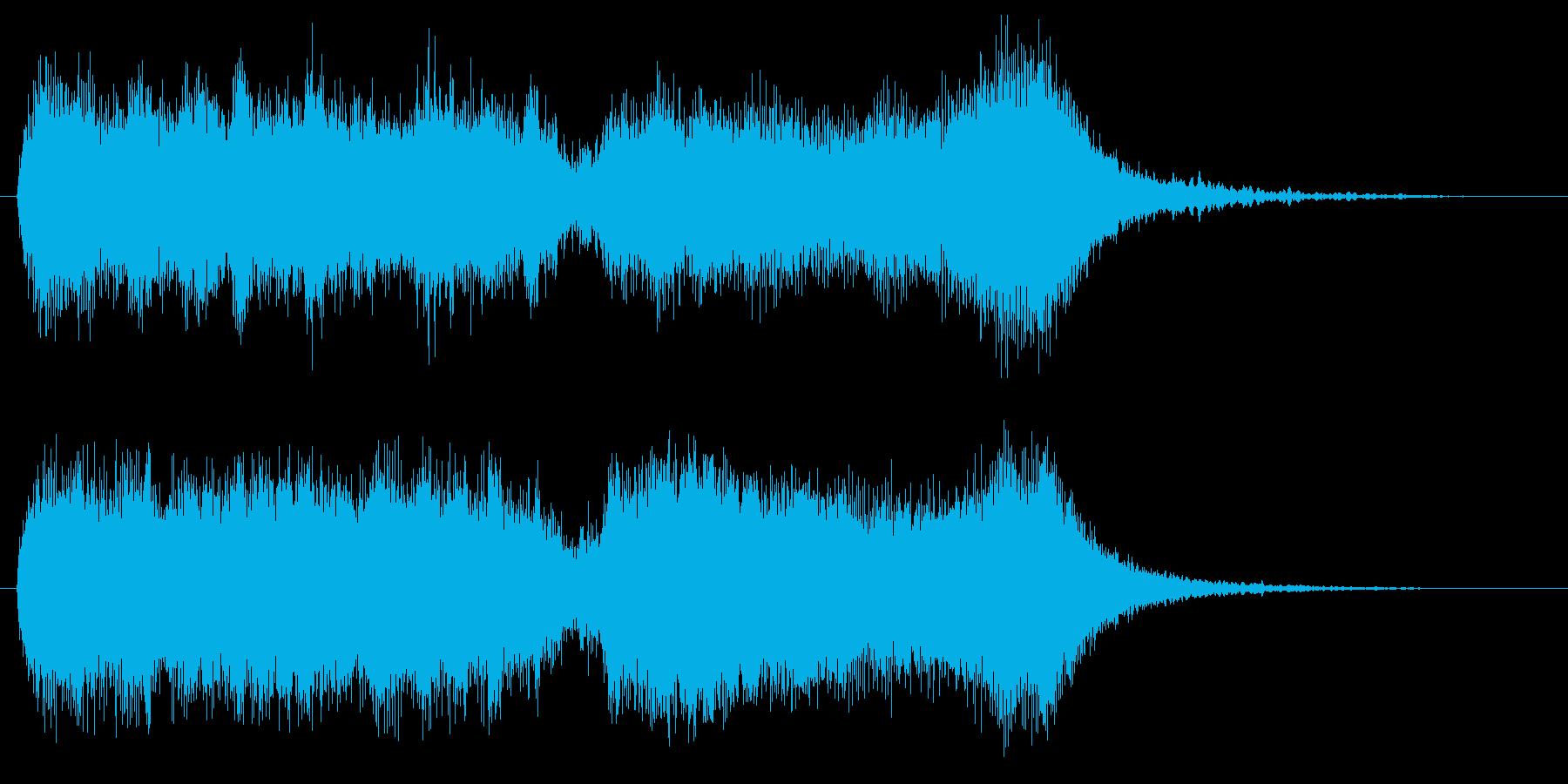 怪しげなファンファーレの再生済みの波形