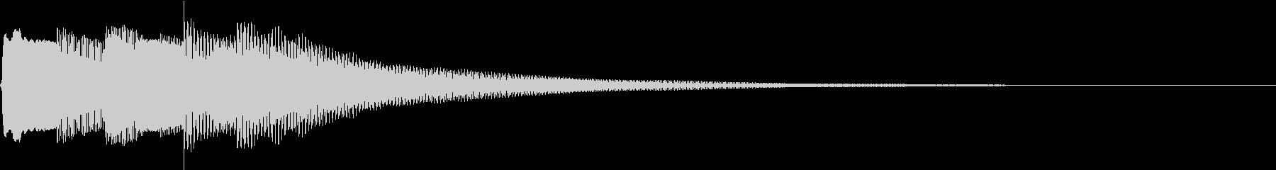 テレキャスターでジングルの未再生の波形