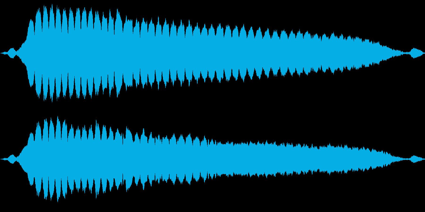警官のホイッスルを1回吹くの再生済みの波形