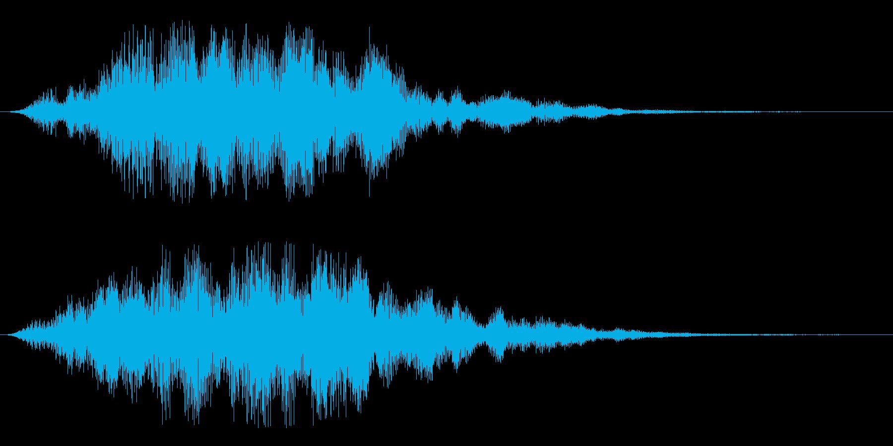 ヒュワーン(静かに始まるタイトル音)の再生済みの波形