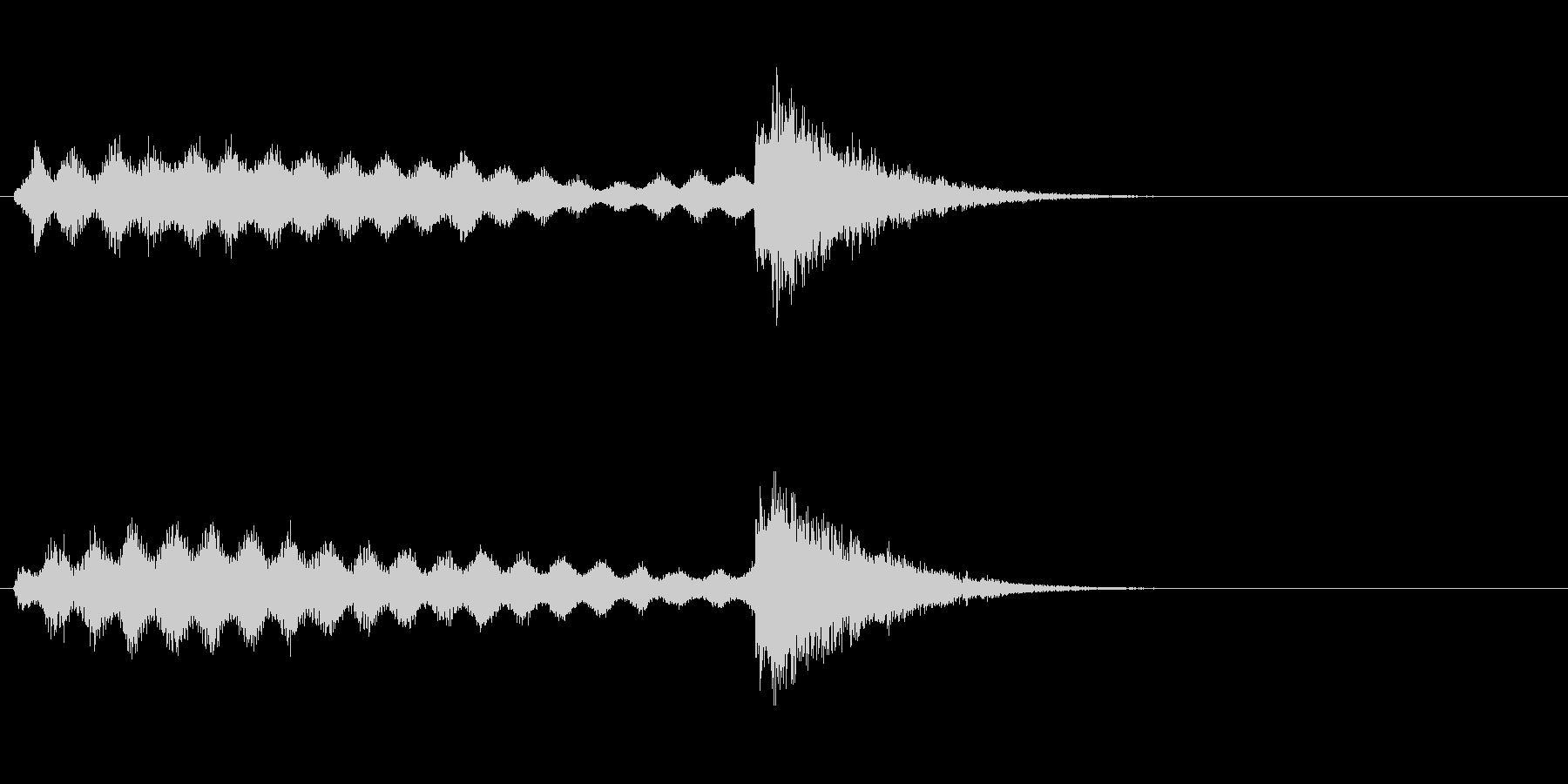 レベルアップやスキルアップなどの未再生の波形