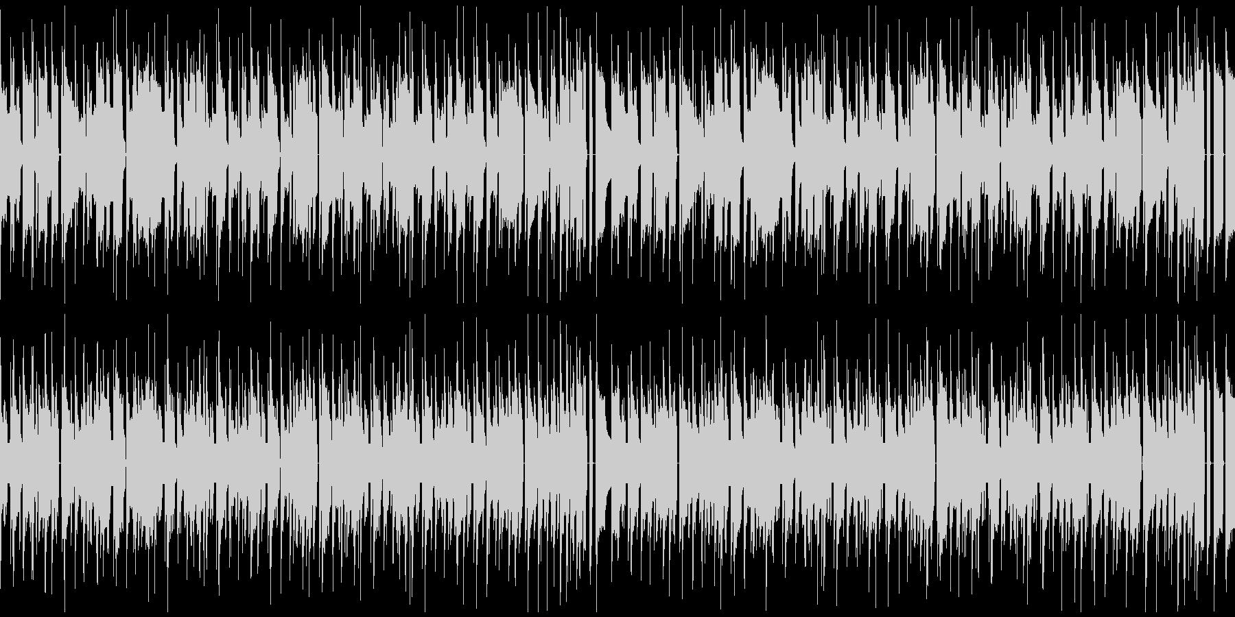 レトロBGM 放課後 スキップの未再生の波形