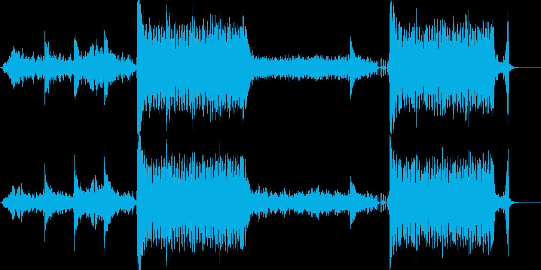ダークで疾走感のある楽曲の再生済みの波形