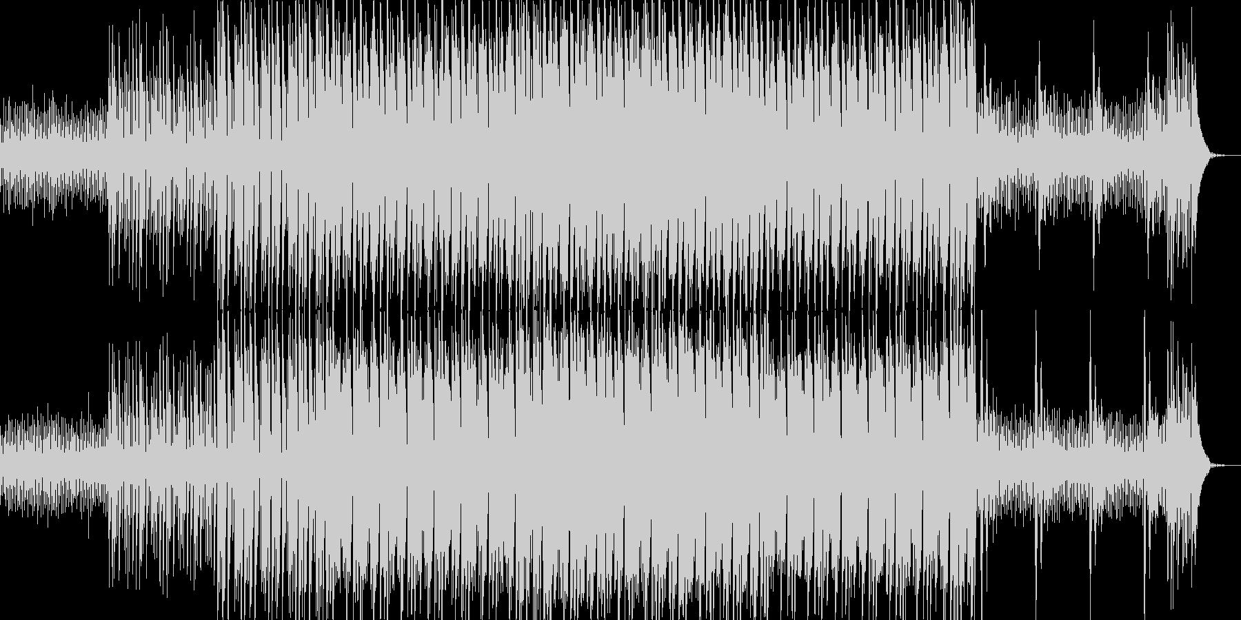 キラキラ系シンセのマイナー調テクノの未再生の波形