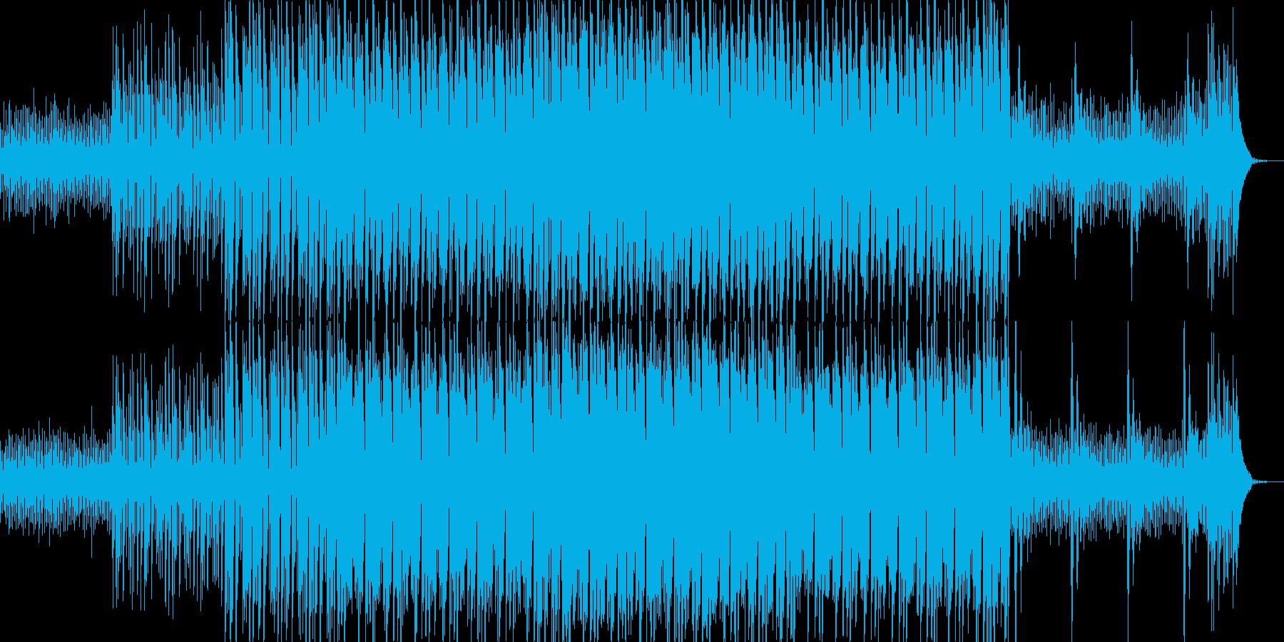 キラキラ系シンセのマイナー調テクノの再生済みの波形