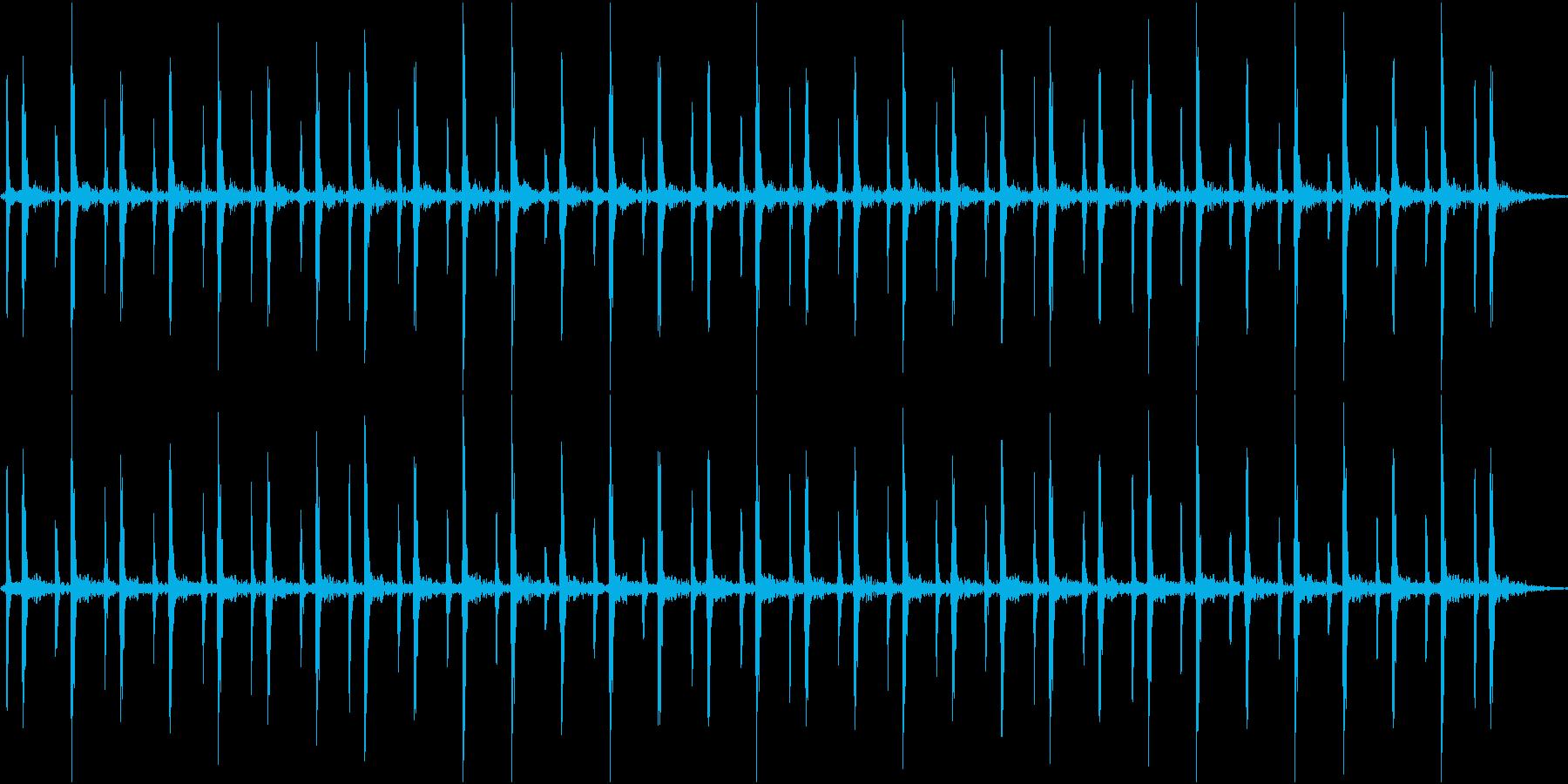 心臓の音(早い)の再生済みの波形