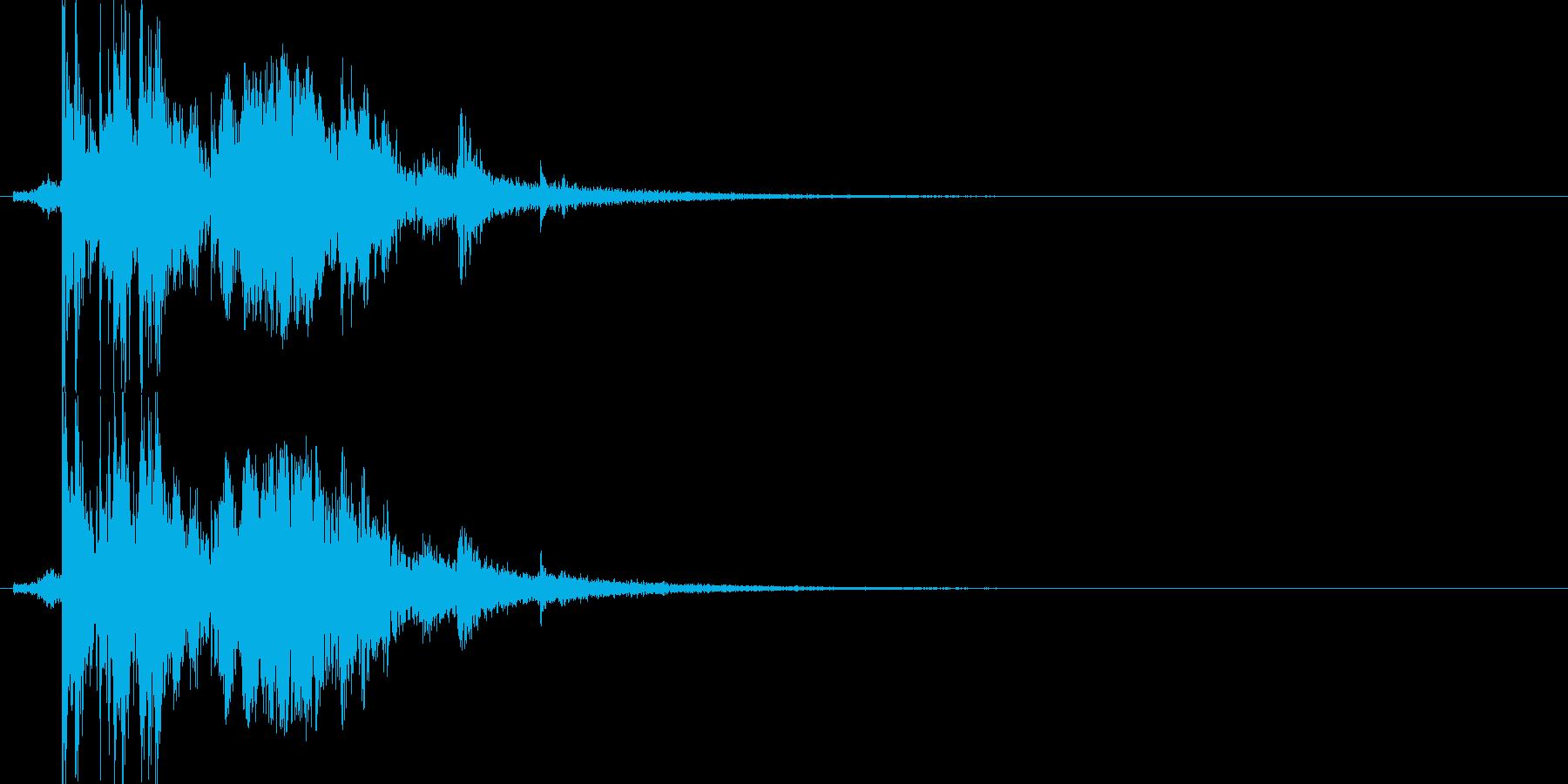 ボウリングのピンを倒す(ストライク)の再生済みの波形
