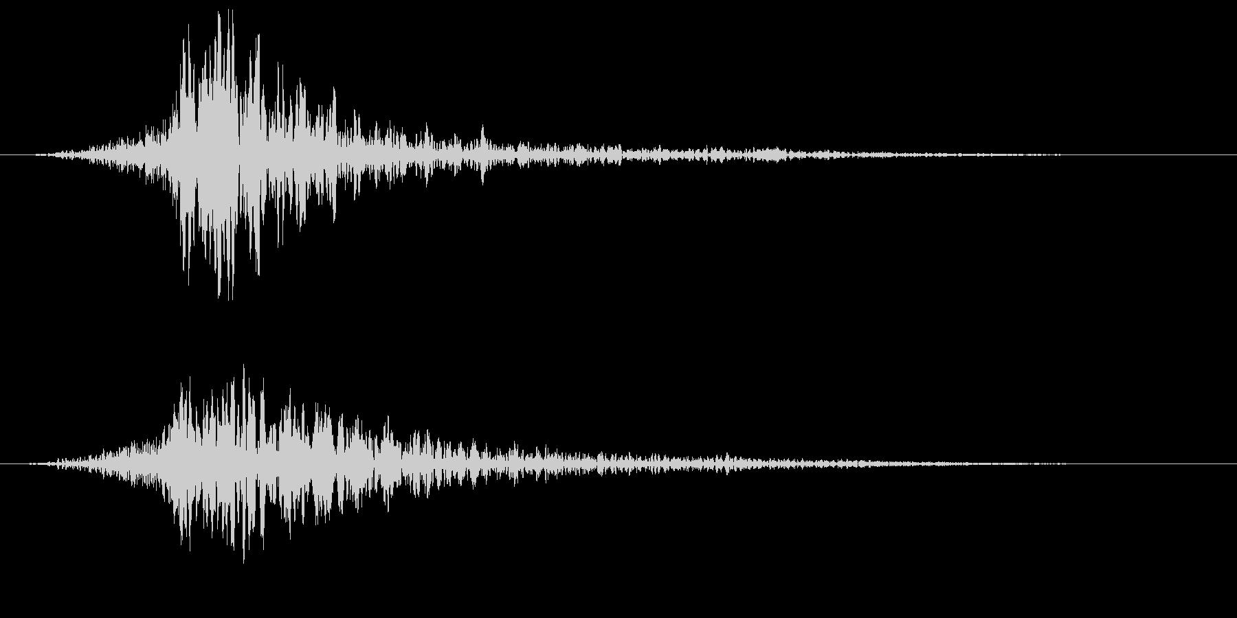 リバースのサウンドエフェクトの未再生の波形