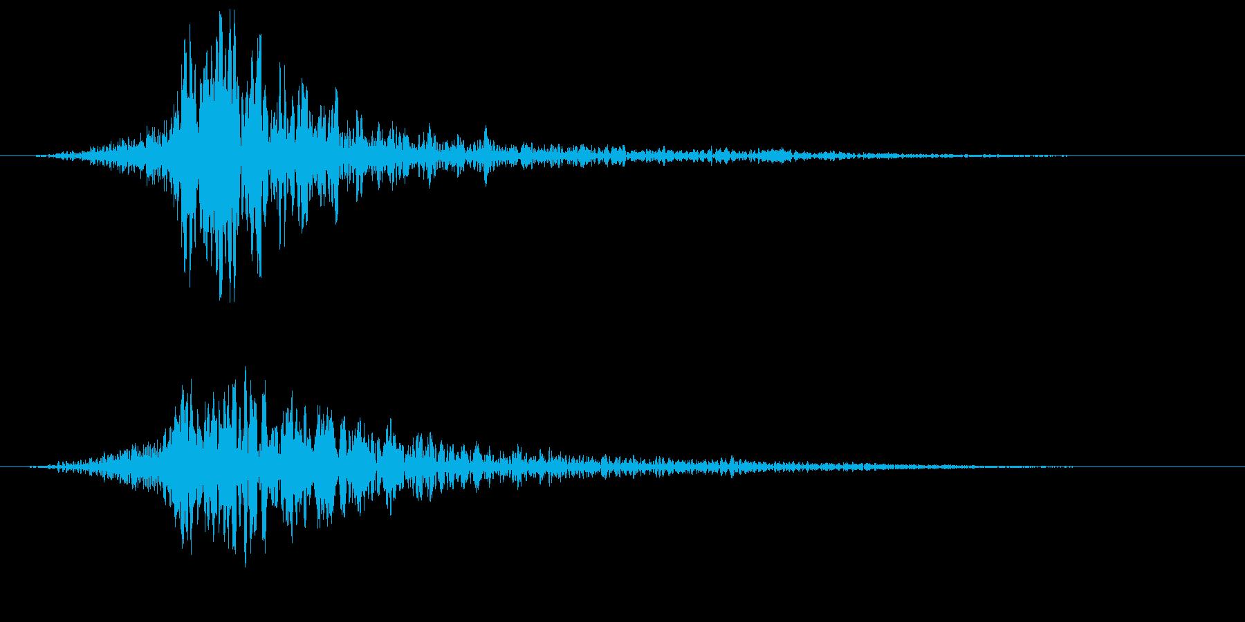リバースのサウンドエフェクトの再生済みの波形