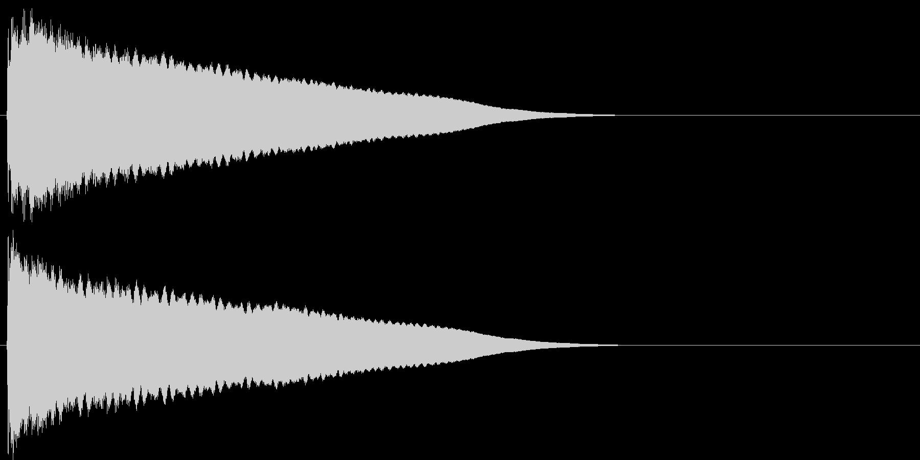 汎用18 チーン(残念、ご愁傷様です)の未再生の波形