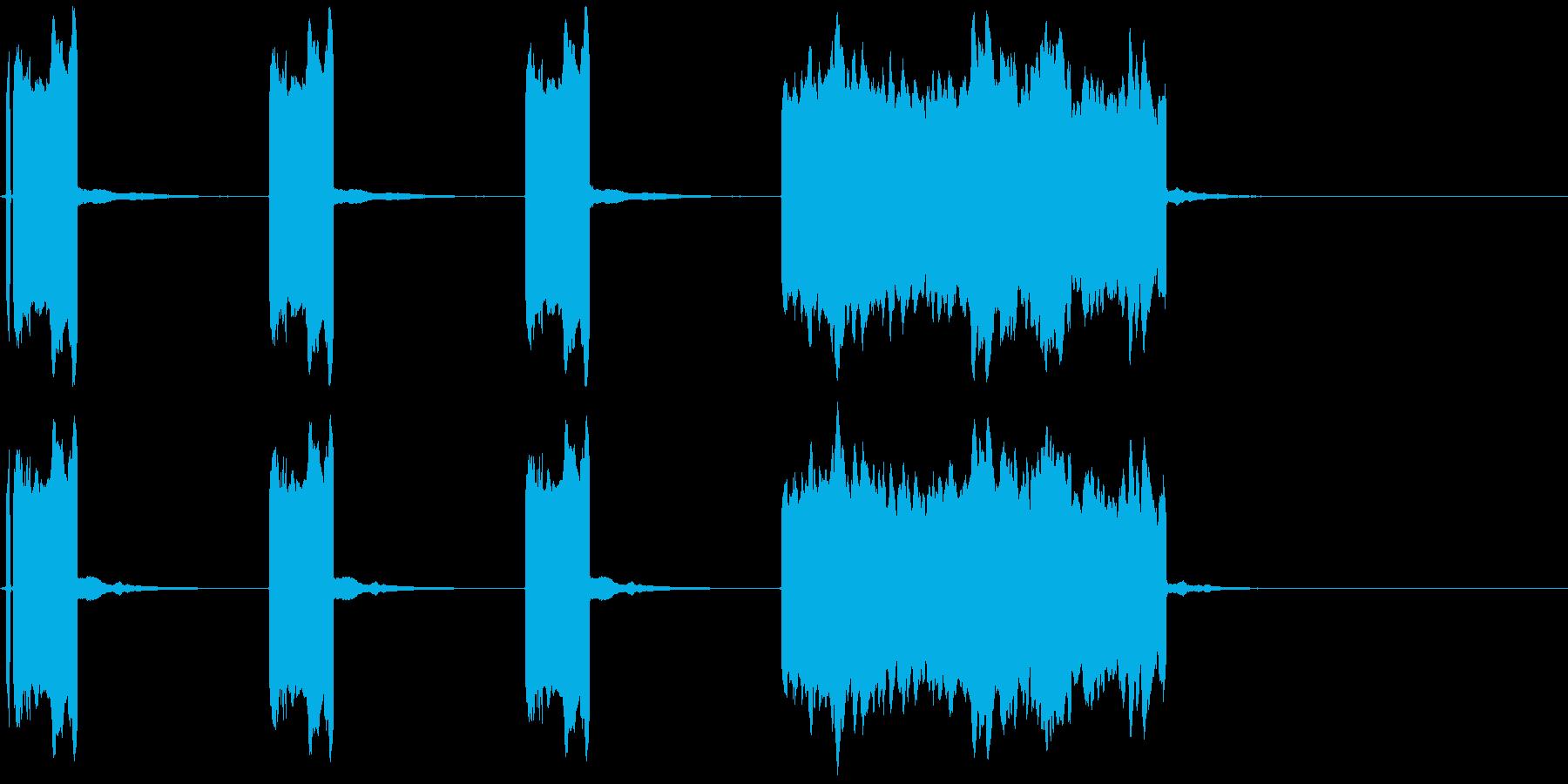 スタートの時の、パッパッパッパー!!の音の再生済みの波形