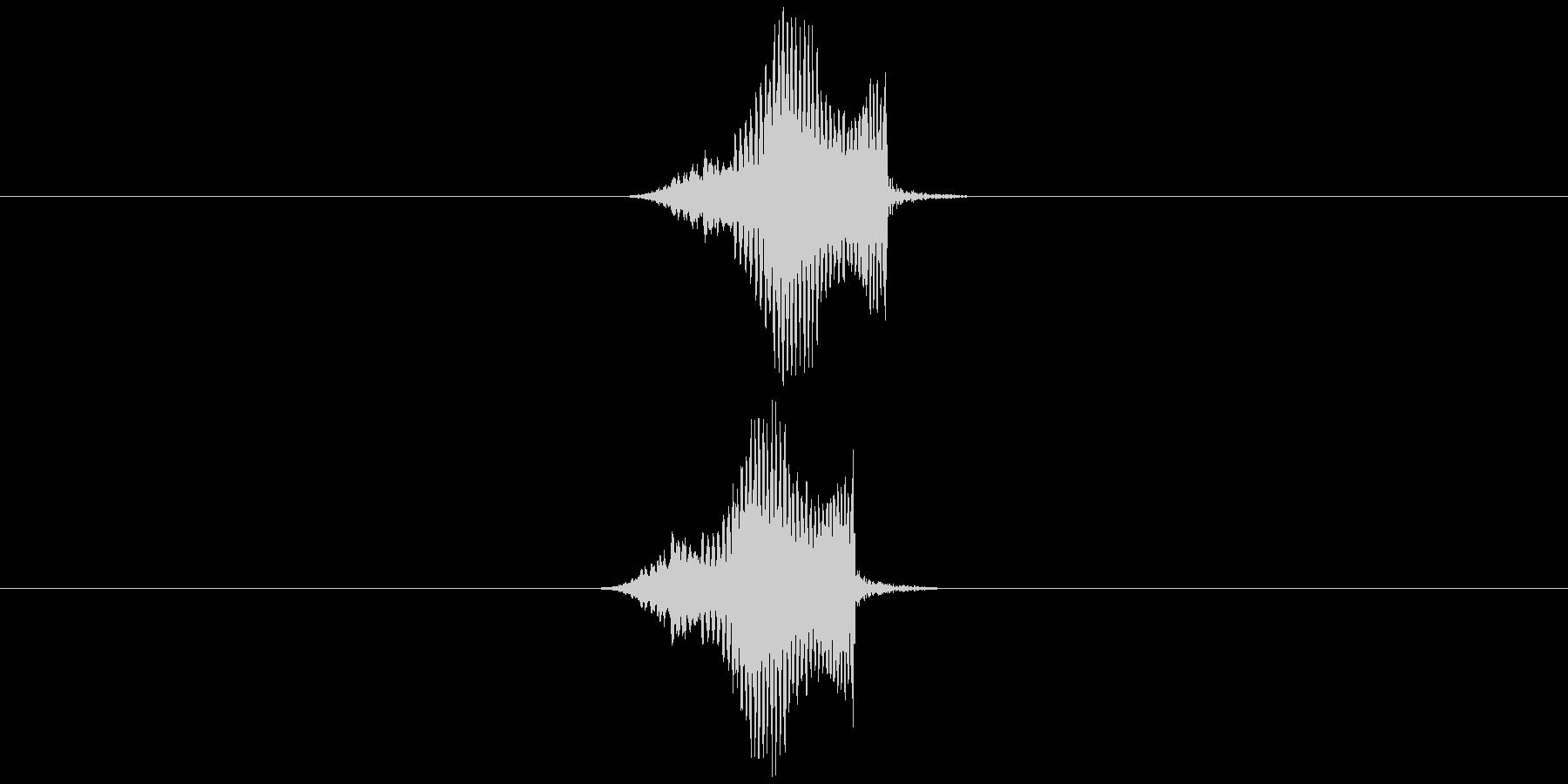 プゥオー(何か飛んでいた時の音)の未再生の波形