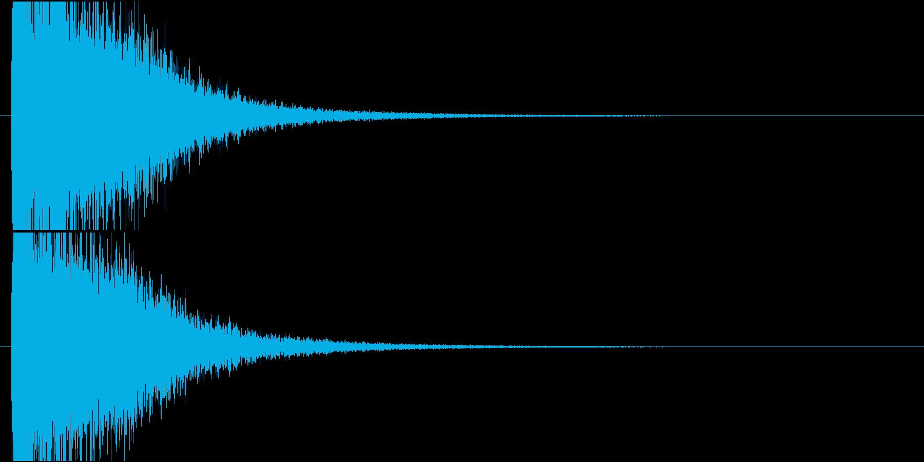 バシューン(クラッシュ、ゲームオーバー)の再生済みの波形