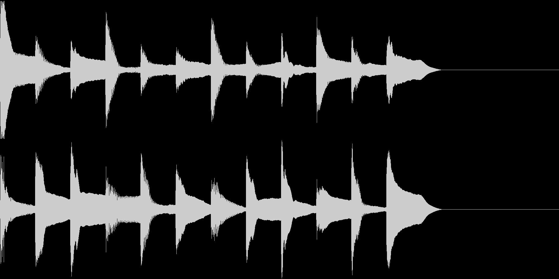 着信音 ループ お知らせ 通知 1の未再生の波形