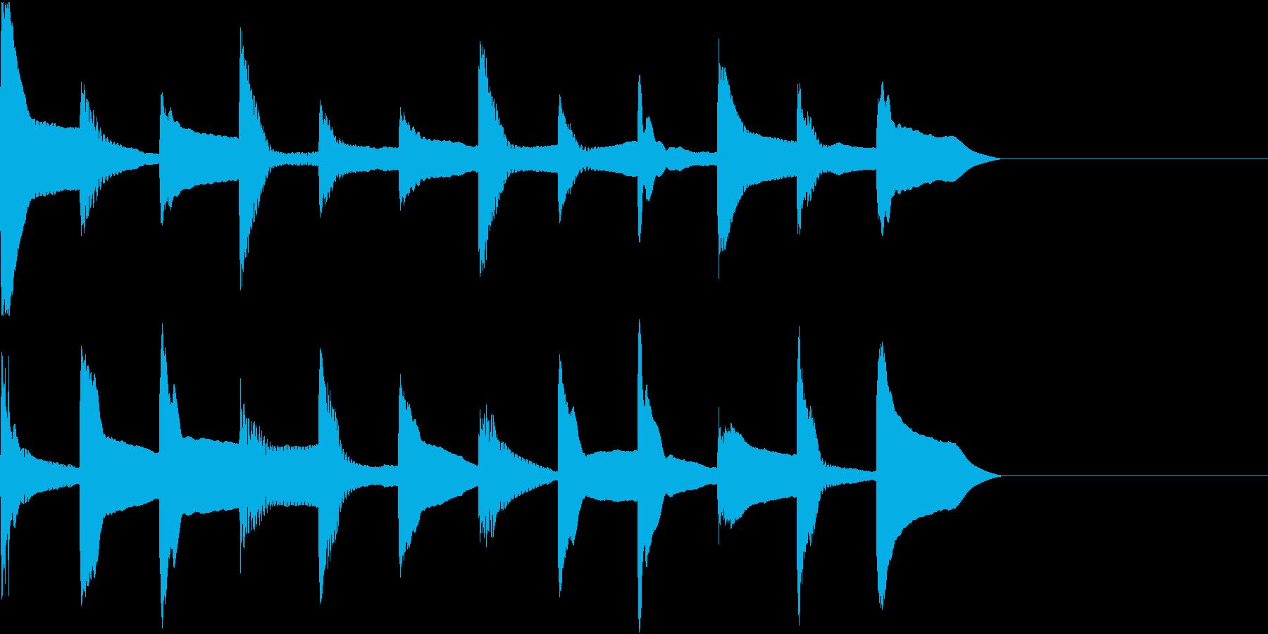 着信音 ループ お知らせ 通知 1の再生済みの波形