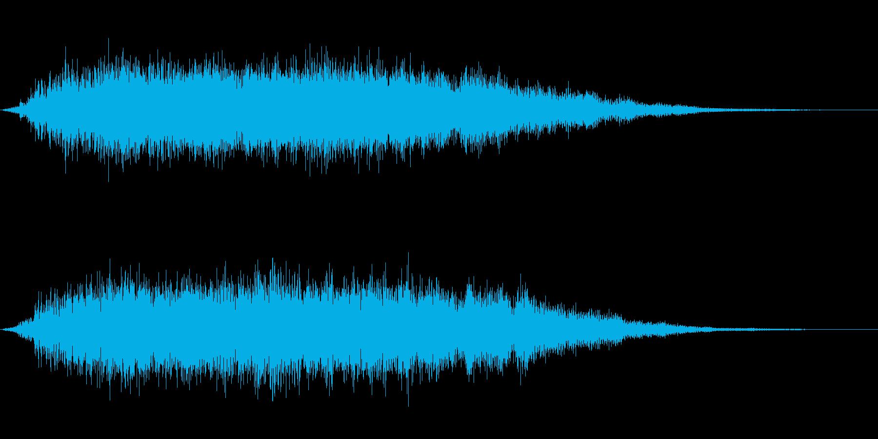 魔法効果などに使える音です。の再生済みの波形