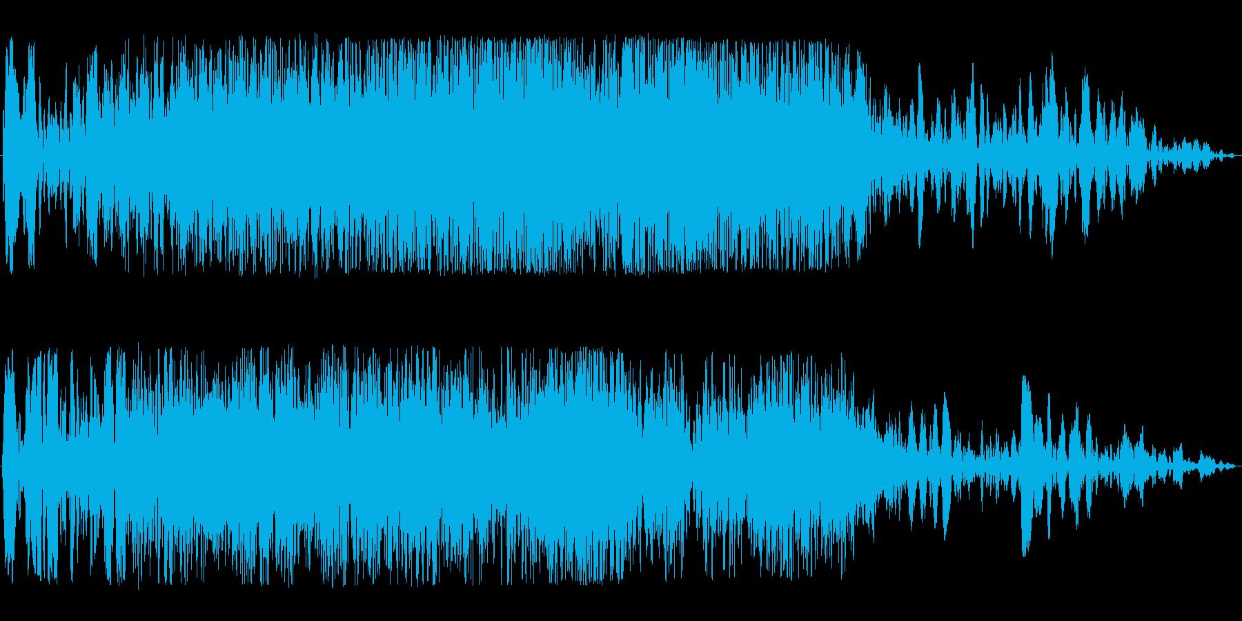 通過音(宇宙船、不思議な物体、神秘的)の再生済みの波形