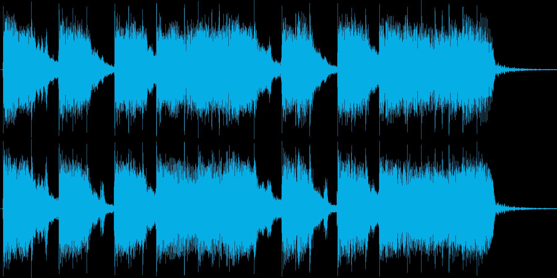 カラッとしたアメリカンロック風ジングルの再生済みの波形